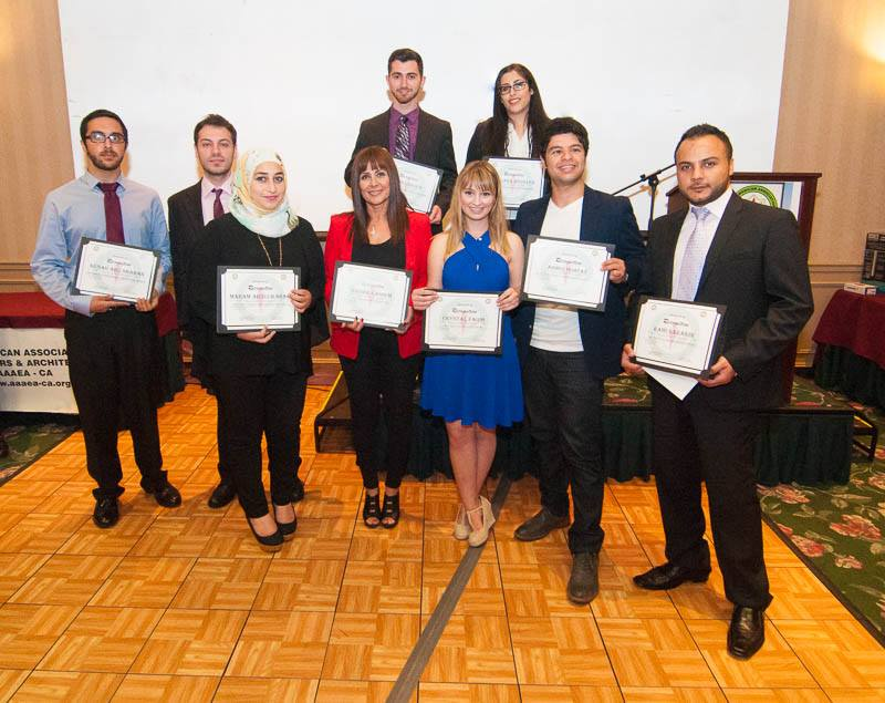 young people recieving recognition